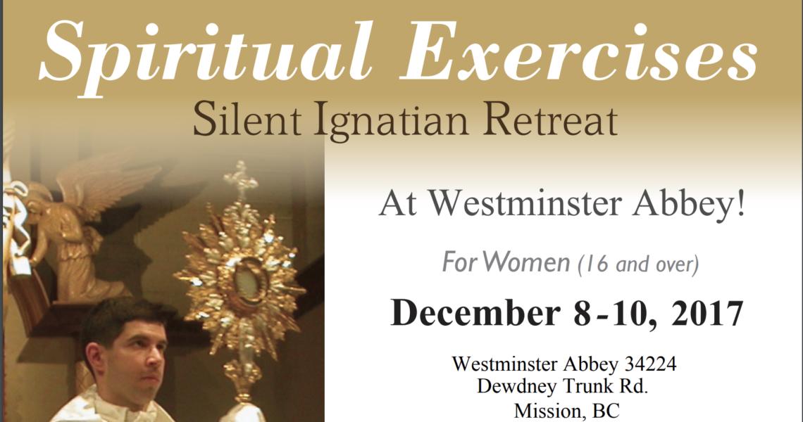 Silent Ignatian Retreats for Women – Dec 8-10, 2017