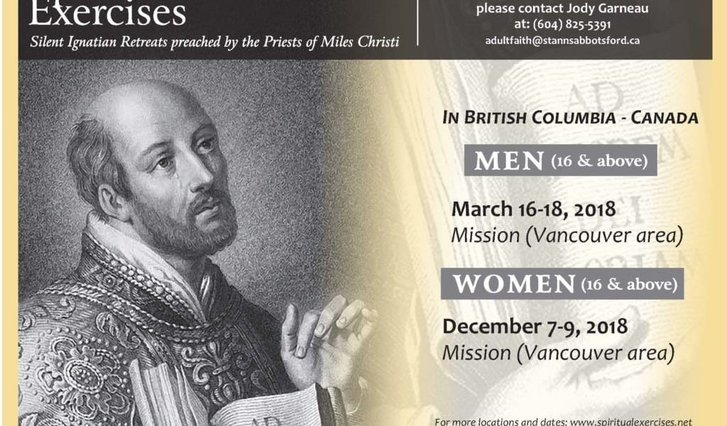 Silent Retreat for Men: Spiritual Exercises with Miles Christi