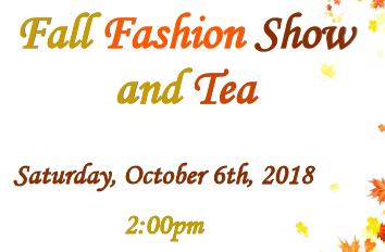 FALL FASHION SHOW & TEA
