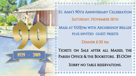 St. Ann's 90t Anniversary Celebration