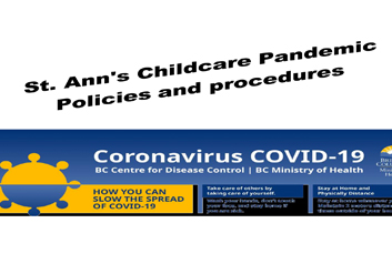 ST. ANN'S CHILDCARE PANDEMIC POLICY AND PROCEDURES