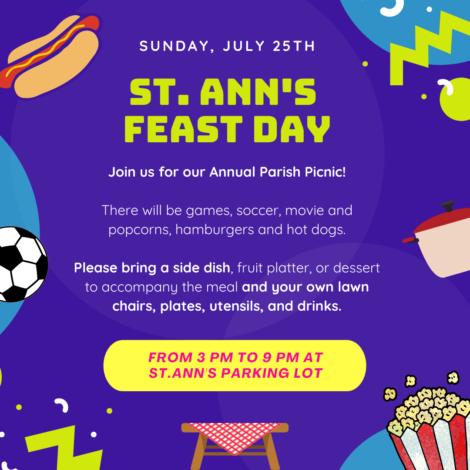 SUNDAY JULY 25th