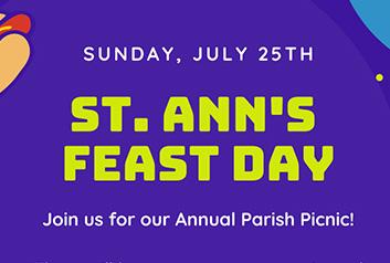 St. Ann's Feast Day - July 25th